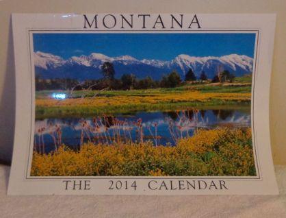 2014 wall calendar of Montana