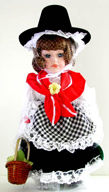 Doll in Welsh regalia