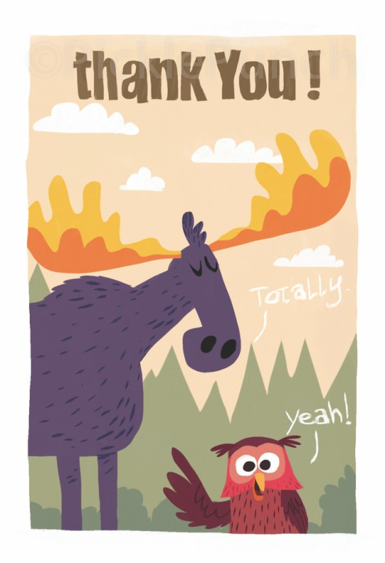 Moose & Owl Thank You